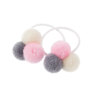 mini trio of pastel pom poms