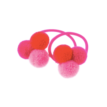 mini trio of pink pom poms