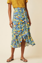 Load image into Gallery viewer, Sorrento Lemon Wrap Frill Skirt