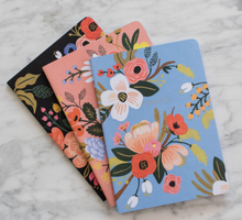Load image into Gallery viewer, Lively Floral Stitched Notebooks