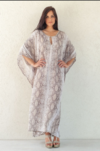 Load image into Gallery viewer, Almond Rayon Snakeskin Vida Maxi Dress
