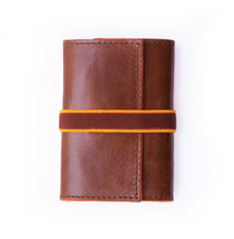 Load image into Gallery viewer, Unisex Havana Brown Leather Card Wallet Holder