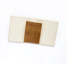 Load image into Gallery viewer, Unisex Tan Leather Card Wallet Holder