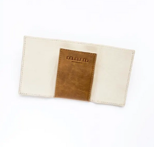Unisex Tan Leather Card Wallet Holder