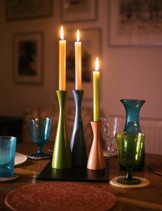 Tall Candleholder - Tall Derby Blue