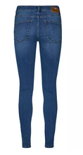 Load image into Gallery viewer, Blue Denim Cotton Stretch Alli Core Jeans - Long