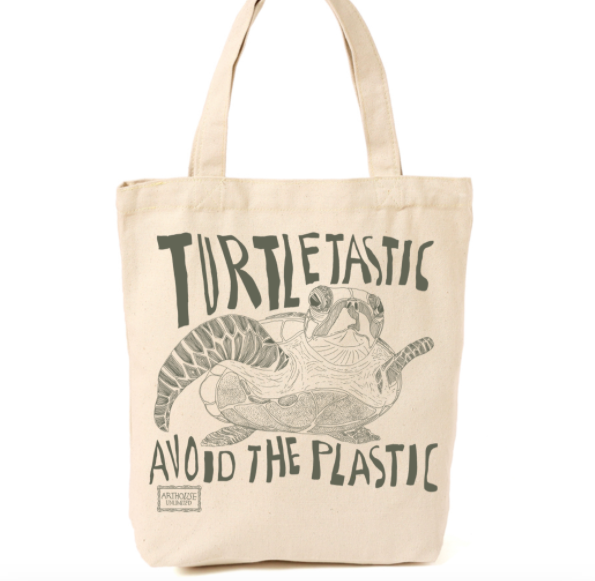 Turtletastic Design Canvas Shopper