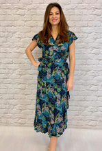 Load image into Gallery viewer, Tropical Wrap Dress