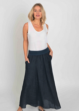 Load image into Gallery viewer, Linen Maxi Skirt - Navy