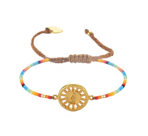 Sunny Eye Rainbow Beaded Bracelet