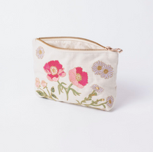 Load image into Gallery viewer, British Blooms Natural Travel pouch