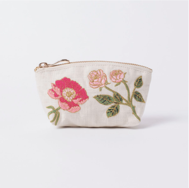 British Blooms Natural Coin Purse