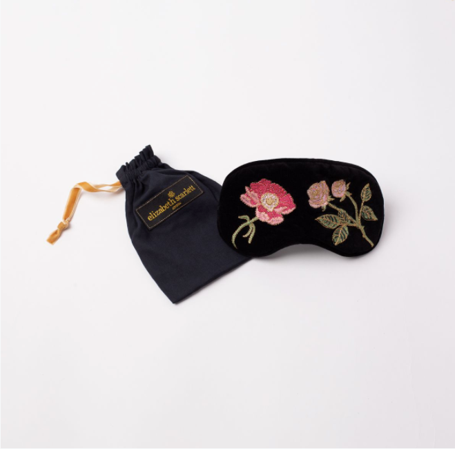 British Blooms Black Velvet Eye Mask