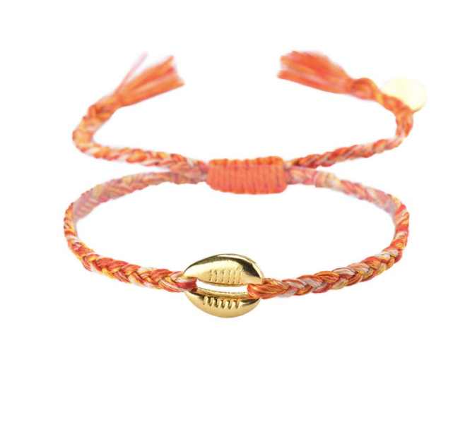 Mishky Caracolito Shell Bracelet - Orange