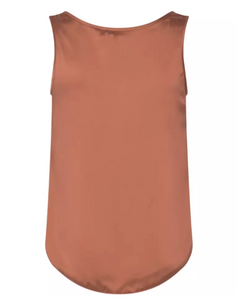 Astrid Silk Tank Top - Autumn Leaf