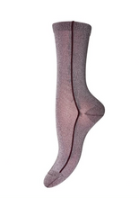 Load image into Gallery viewer, Lilac Stripe Glitter Socks