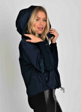 Load image into Gallery viewer, Hood & Zip Rain Jacket - Navy