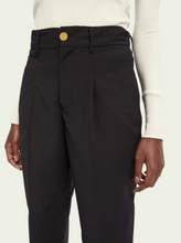 Load image into Gallery viewer, Black tailored regular length high waist pants