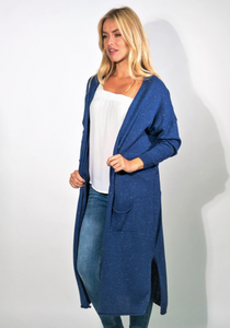 Long Sparkle Cardi - One Size - Denim