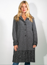 Load image into Gallery viewer, Grey Wool Long Blanket Coat