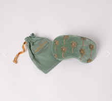Load image into Gallery viewer, African Palmier Khaki Velvet Eye Mask