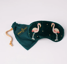 Load image into Gallery viewer, Flamingo Velvet Eye Mask