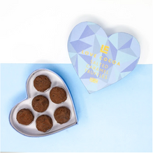 Load image into Gallery viewer, Blue Heart Salted Caramel Truffle Box