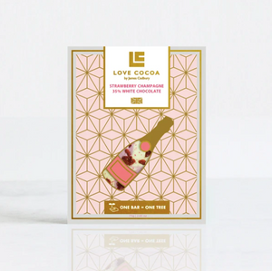 Strawberry Champagne 35% White Chocolate Bar