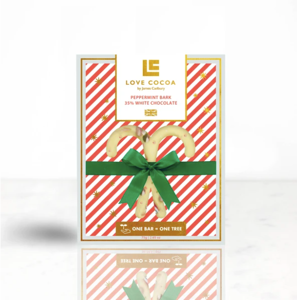 Chocolate Cane Peppermint White Chocolate Bar