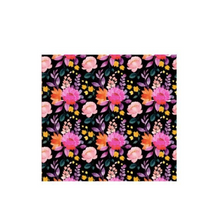 Load image into Gallery viewer, Black Vivid Floral Face Covering