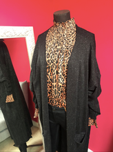 Load image into Gallery viewer, Long Sparkle Cardi - One Size - Black