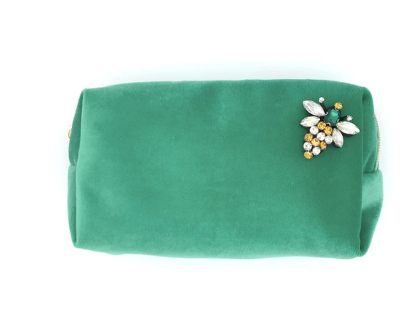 Marine Green make-up bag