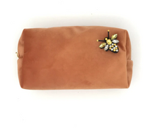 Load image into Gallery viewer, Canteloupe Velvet Make-up Bag