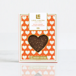 Limited Edition Love Heart Salted Caramel 41% Milk Chocolate Bar