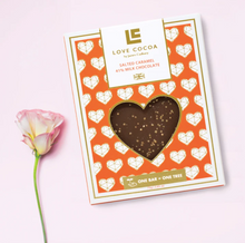 Load image into Gallery viewer, Limited Edition Love Heart Salted Caramel 41% Milk Chocolate Bar