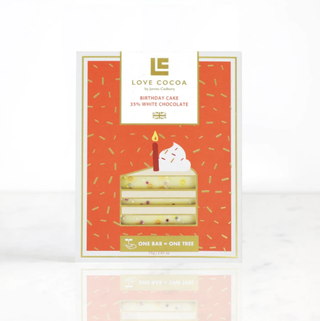 Birthday Cake White Chocolate Bar