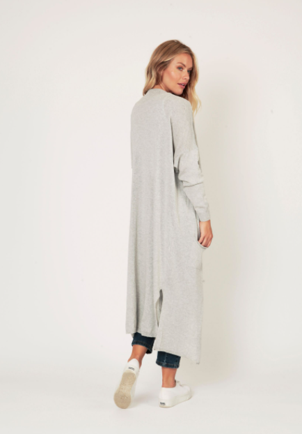 Long Sparkle Cardi - One Size - Light Grey