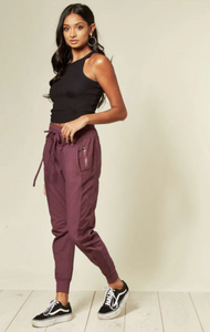 Cotton Joggers - Bordeaux