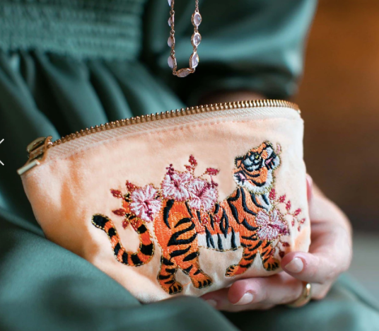 Tiger Apricot Coin Purse