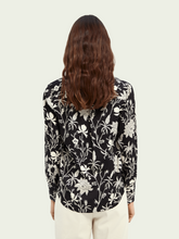 Load image into Gallery viewer, Black Floral button-down printed shirt