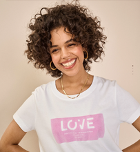 Load image into Gallery viewer, Chérie LOVE O-SS Bubble Pink Tee