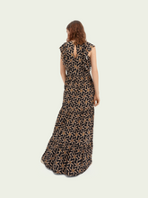 Load image into Gallery viewer, Drapey scalloped edge maxi dress