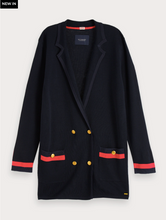 Load image into Gallery viewer, Navy Wool Blend Knitted Blazer
