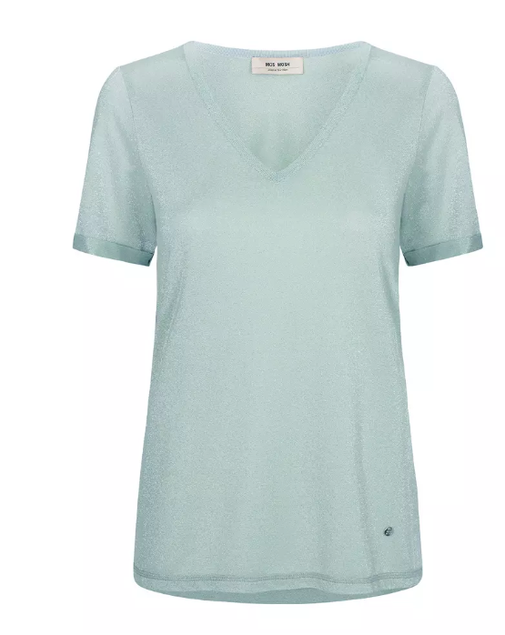 Casio V-neck Tee SS - Mint Haze