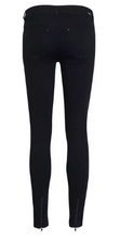 Load image into Gallery viewer, Victoria 7/8 Black Jeans with Zips - Black