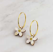 Load image into Gallery viewer, Orange Blossom Hoops