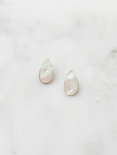 Load image into Gallery viewer, Raindrop Studs in Mother of Pearl