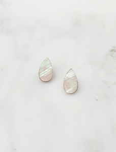 Raindrop Studs in Mother of Pearl