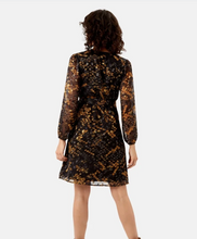 Load image into Gallery viewer, Wrap Dress - Black & Mustard