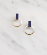 Load image into Gallery viewer, Elara Studs in Midnight Blue